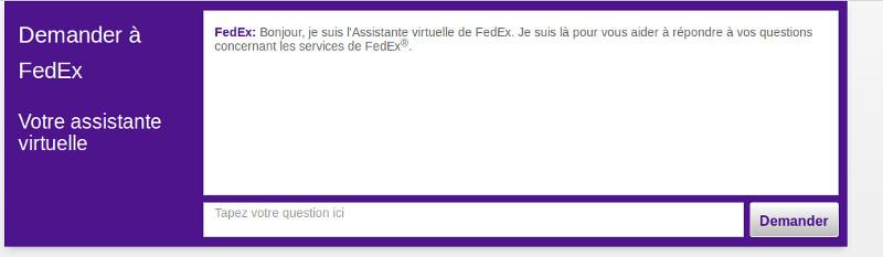 Assistance en ligne Fedex France