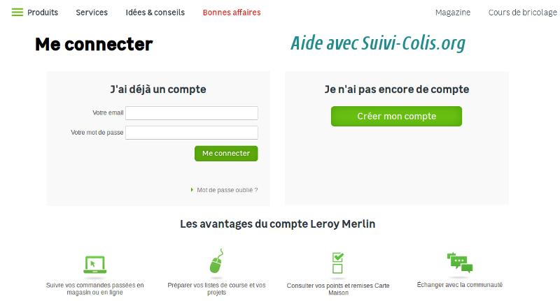 Suivi colis leroy merlin suivre une commande en ligne avec leroy merlin - Suivi commande point relais ...
