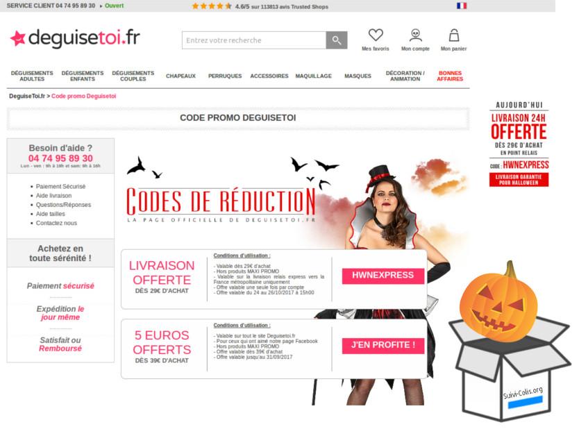 DeguiseToi.fr Suivi Livraison