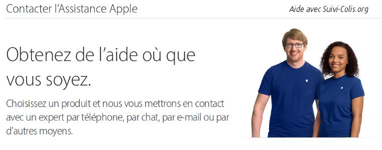 aide suivi commande apple