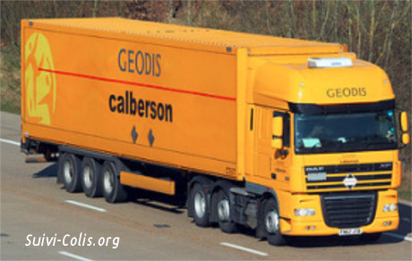 suivre une commande avec Calberson