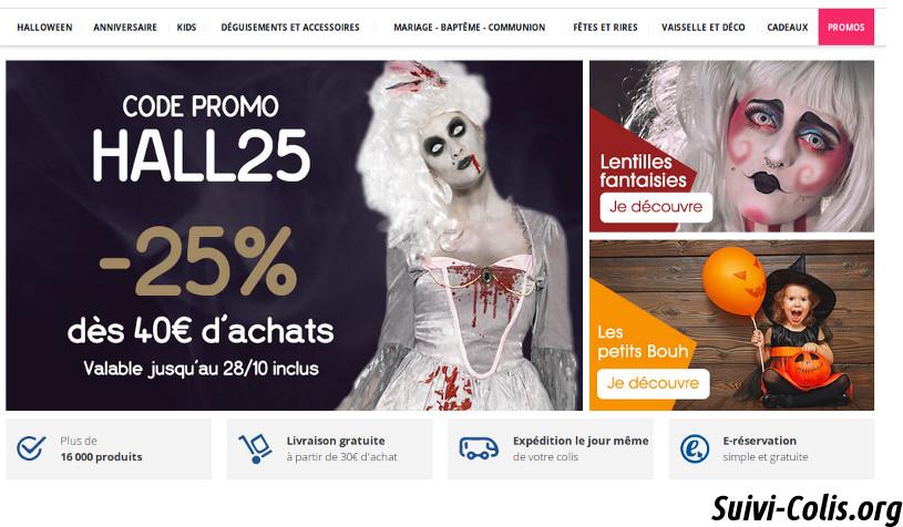 Boutique en ligne déguisements halloween Jour de fête