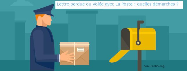 Démarches pour une lettre perdue ou volée avec La Poste