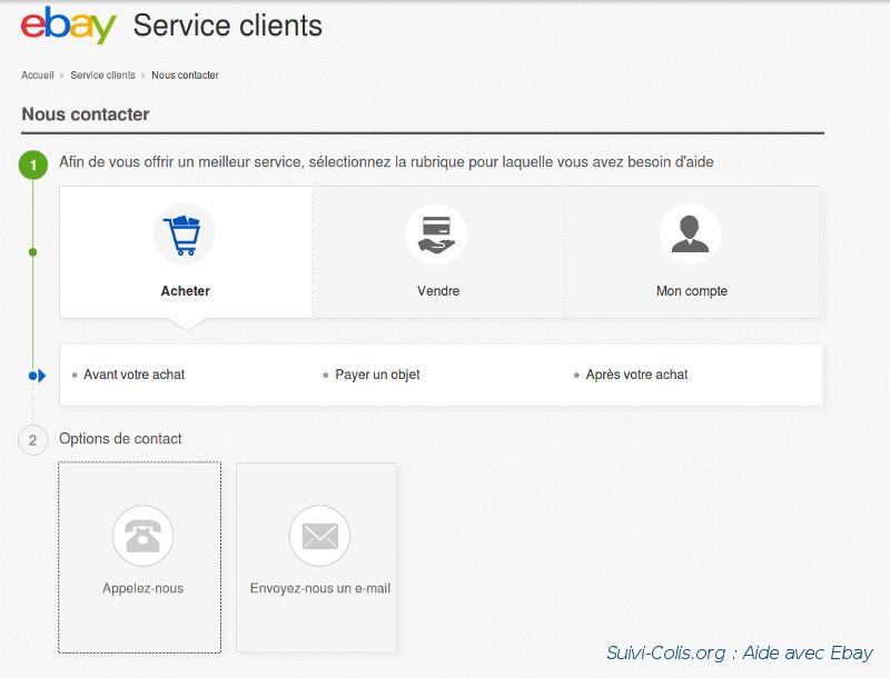 aide en ligne avec ebay